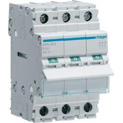 Hager Modułowy rozłącznik izolacyjny 3P 63A 400V SBN363