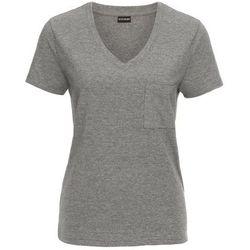 Shirt bonprix biel wełny z połyskującym nadrukiem