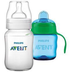 Avent Butelka Classic 260 ml + Kubek Classic 200 ml, niebieski - BEZPŁATNY ODBIÓR: WROCŁAW!