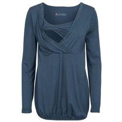 Shirt ciążowy i do karmienia, z koronkową wstawką, długi rękaw bonprix ciemnoniebieski