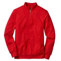 Bluza ze stójką Regular Fit bonprix truskawkowy