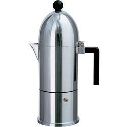 Alessi Kawiarka do espresso z alumninium z czarną rączką mała (A9095/1 B) Darmowy odbiór w 20 miastach!