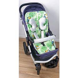 Wkładka do wózka, ochraniacze na pasy i pałąk tukany