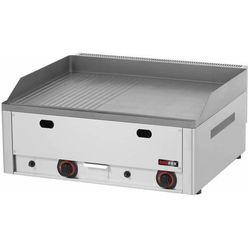 Płyta grillowa gazowa 1/2gładka 1/2 ryflowana | 650x480mm | 8000W | 660x580x(H)220mm