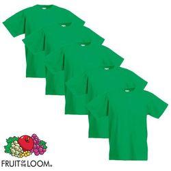 Fruit of the Loom 5 koszulek dla dzieci, 100% bawełny, zielonych, rozmiar 128 cm Darmowa wysyłka i zwroty