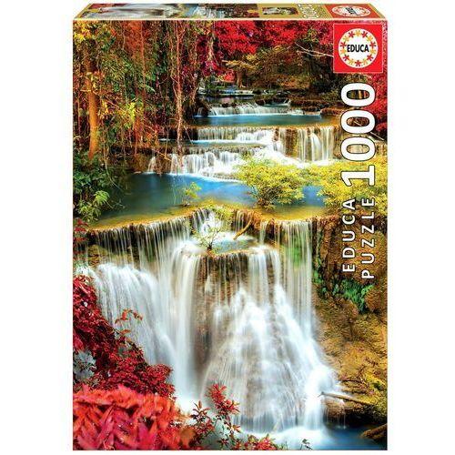 Puzzle, Puzzle 1000 elementów Wodospad w głębi lasu