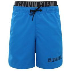Calvin Klein Swimwear MEDIUM DOUBLE WAISTBAND Szorty kąpielowe electric blue lemonade