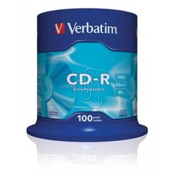 Płyty Verbatim CD-R 700MB 52X Extra Protection Cake 100