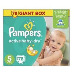 Pieluszki Pampers Active Baby-dry rozmiar 5 Junior, 78 szt.