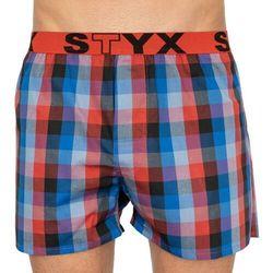 bokserki STYX - Sport červená/modrá (MULTI) rozmiar: M