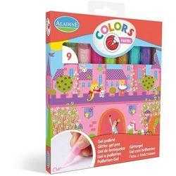 Pisaki żelowe z brokatem Colors Aladine - Pastel A42012
