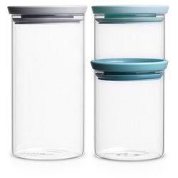 Brabantia - pojemnik kuchenny szklany hermetyczny - 3 sztuki