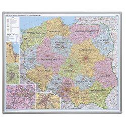 tablica mapa Polski administracyjna magnetyczna