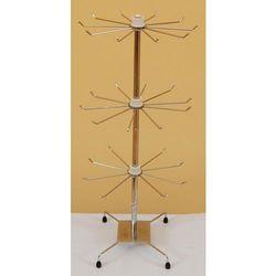 Obrotowy, 3 poziomowy, metalowy stojak do biżuterii chromowany - model II