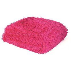 Dekoria Pled Shaggy Hot Pink 150x200cm, 150 × 200 cm