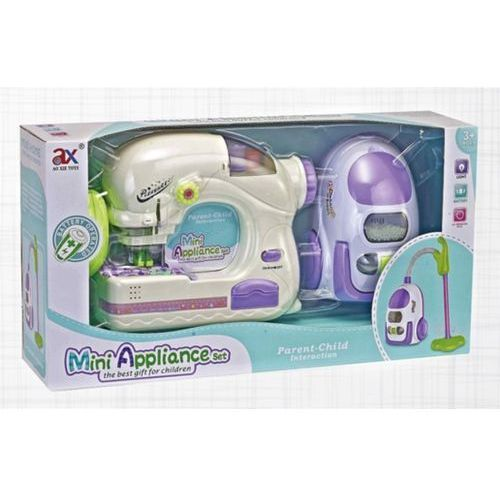 Maszyny do szycia dla dzieci, Zestaw 2 w 1 odkurzacz + maszyna do szycia