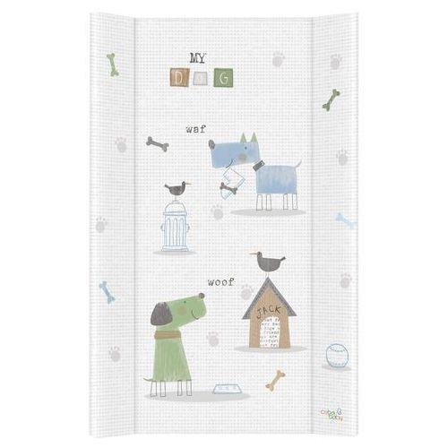 Przewijaki i maty do przewijania, MAMO-TATO Przewijak na łóżeczko usztywniony 50x70 Pieski niebiesko-zielone