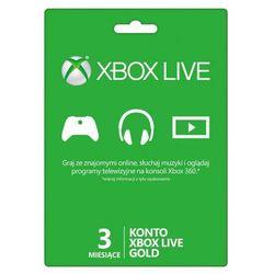 Karta zdrapka Xbox Live 3 miesiące
