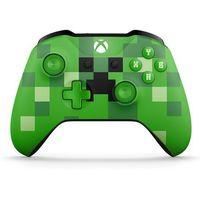 Pozostałe gry i konsole, Kontroler bezprzewodowy Microsoft do konsoli Xbox One - wersja limitowana Minecraft Creeper (zielony)