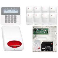 Zestawy alarmowe, ZESTAW ALARMOWY: Płyta główna Perfecta 16 + Manipulator PRF-LCD + 8x Czujnik ruchu + Akcesoria