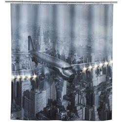Zasłona prysznicowa OLD PLANE tekstylna z oświetleniem LED, 180x200 cm, WENKO