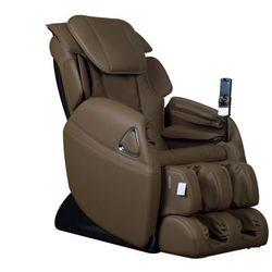Fotel masujący LETO z obiciem skóropodobnym - System wprowadzający w stan nieważkości (antygrawitacyjny) - czekoladowy
