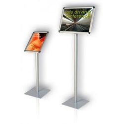 Tablica informacyjna na stojaku Classic 2x3 pozioma A4(297x210mm) wys. 100cm
