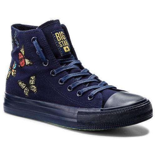 Damskie obuwie sportowe, Trampki BIG STAR - AA274901 Navy