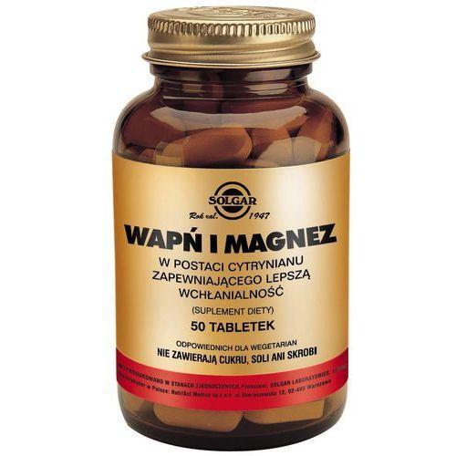 Witaminy i minerały, SOLGAR Wapń i Magnez w post.cytrynianu - - 50 tabl.