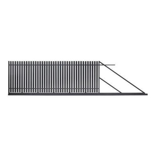 Bramy, Brama przesuwna Polbram Steel Group Daria 2 400 x 150 cm prawa