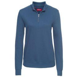 Bluza z zamkiem, długi rękaw bonprix niebieski dżins