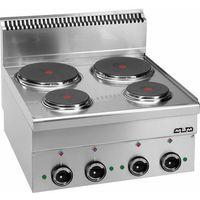Piece i płyty grzejne gastronomiczne, Kuchnia elektryczna MBM600 4-płytowa, stołowa