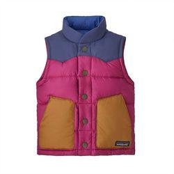 Patagonia Baby Bivy Down Vest Kids, różowy 4Y   104 2021 Bezrękawniki puchowe