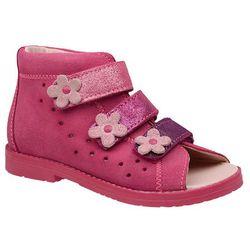 Sandałki Profilaktyczne Ortopedyczne Buty DAWID 1042 Różowy RB - Różowy   Fuksja