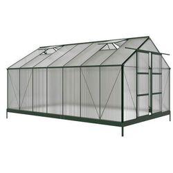 Szklarnia ogrodowa OXALIS z poliwęglanu o powierzchni 15 m², z podstawą