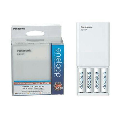 Ładowarki do akumulatorków, Ładowarka PANASONIC Eneloop BQ-CC87 + AA (4 sztuki)