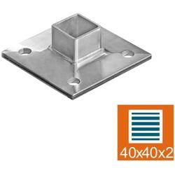 Stopa montażowa AISI304, 105x105/40x40x2/d12mm