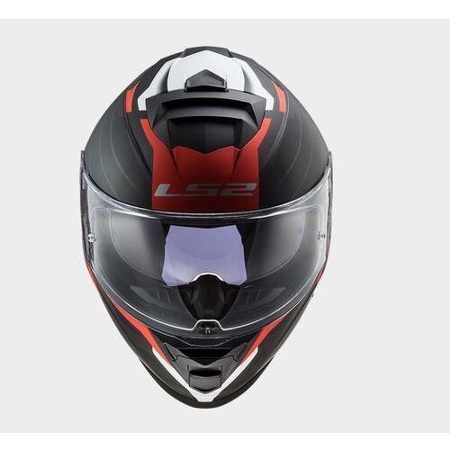 Kaski motocyklowe, KASK LS2 FF800 STORM NERVE MATT BLACK RED