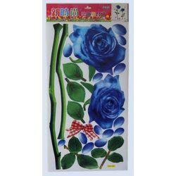 NAKLEJKA NAKLEJKI ŚCIANA MEBLE 2 niebieskie róze