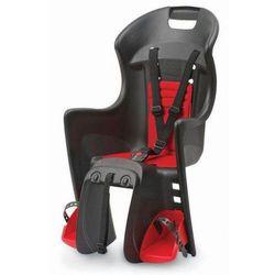 Fotelik Rowerowy Boodie RMS czarno-czerwony mocowanie na bagażnik