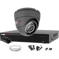 Zestawy monitoringowe, System monitoringu 4W1 Kamera 1080P IR25 LV-AL25HD Rejestrator 4 kanałowy LV-XVR44SE P2P