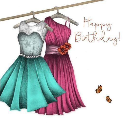 Pozostałe artykuły szkolne, Karnet Swarovski kwadrat CL0315 Urodziny sukienki