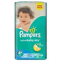 Pieluchy jednorazowe, PAMPERS Active Baby-Dry Pieluchy 4+ Maxi+ 53szt pieluszki