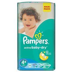 PAMPERS Active Baby-Dry Pieluchy 4+ Maxi+ 53szt pieluszki