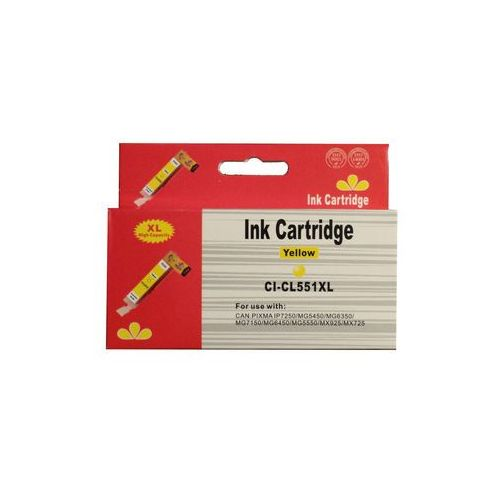 Tusze do drukarek, zastępczy atrament Canon [CLI-551Y XL] yellow 100% nowy
