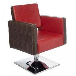Fotel fryzjerski Ernesto czerwono-brązowy BM-6302