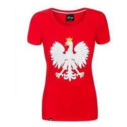 koszulka Surge Godło Polski damska czerwona (K.SUR.469)