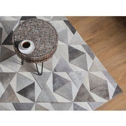 Dywan szary 160 x 230 cm skórzany ALAKA