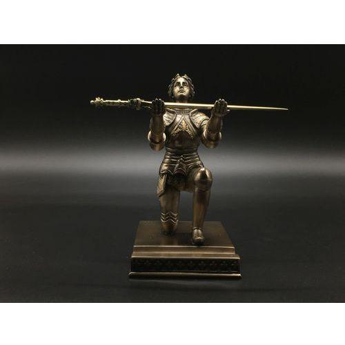 Rzeźby i figurki, KLĘCZĄCA JOANNA D`ARC – STOJAK NA DŁUGOPIS I NOŻYK DO LISTÓW VERONESE WU77317A4