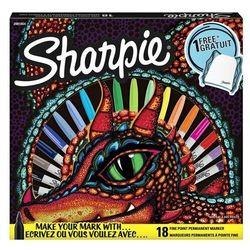 Zestaw Sharpie Markery Fine 18kolorów + worek motyw smok 2095478